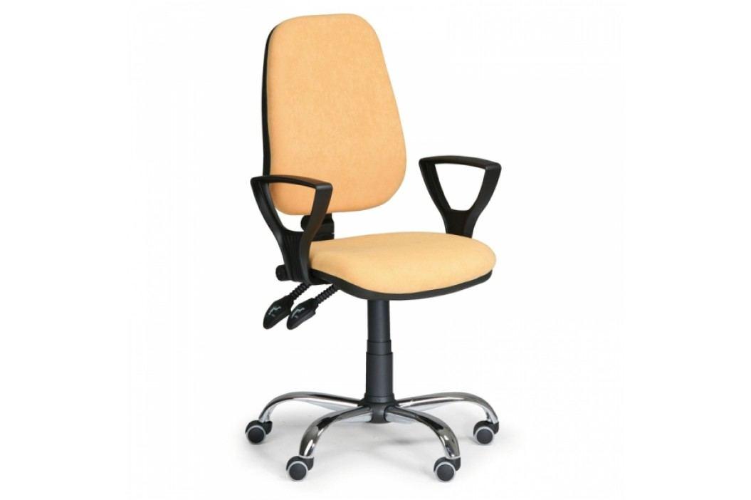 Kancelářská židle Comfort SY s područkami žlutá