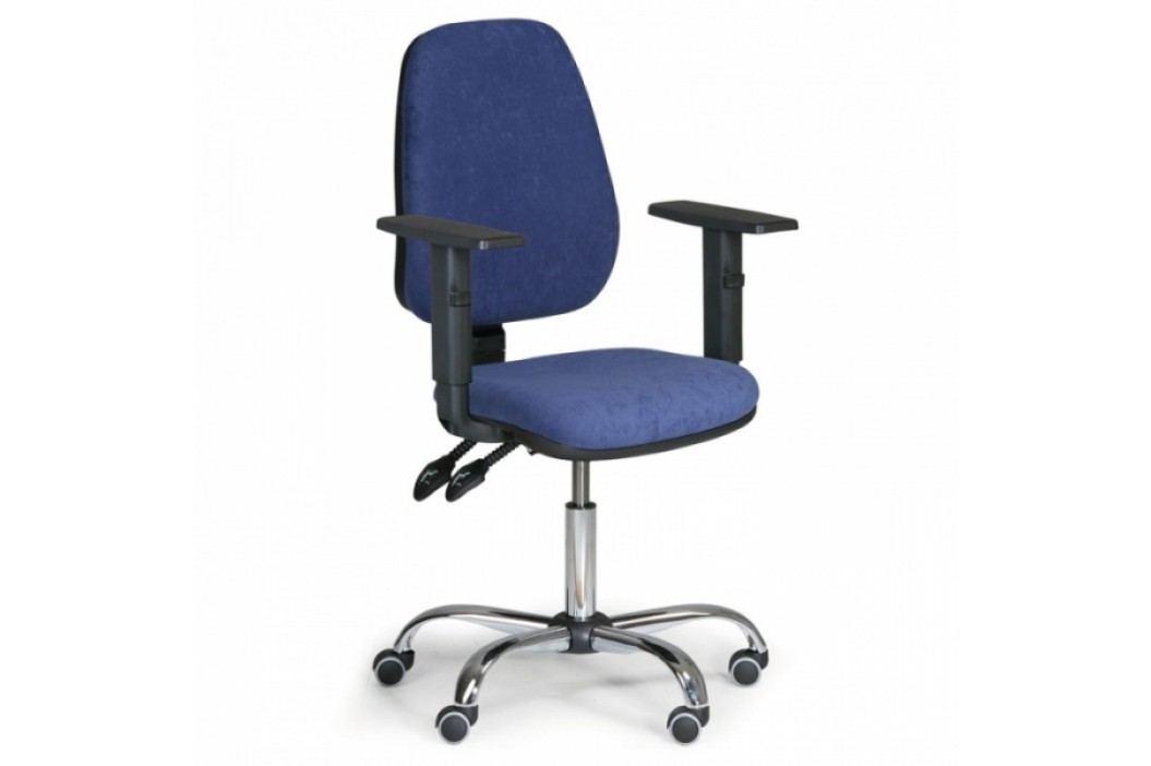 Kancelářská židle Alex s područkami modrá