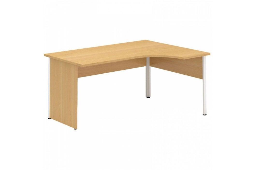 Interier Říčany Alfa 100 Stůl kancelářský 120 Pravý Deska rohová 1200x1800/800 ořech