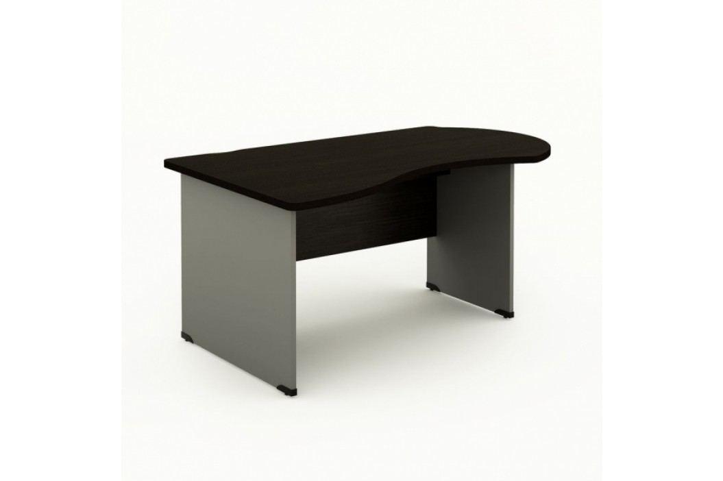 Ergonomický stůl Manager, levý 160 x 100 cm wenge