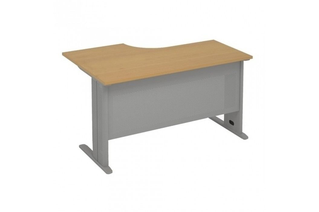 Lenza Ergonomický stůl Express 140 x 110 cm, pravý hruška aroso