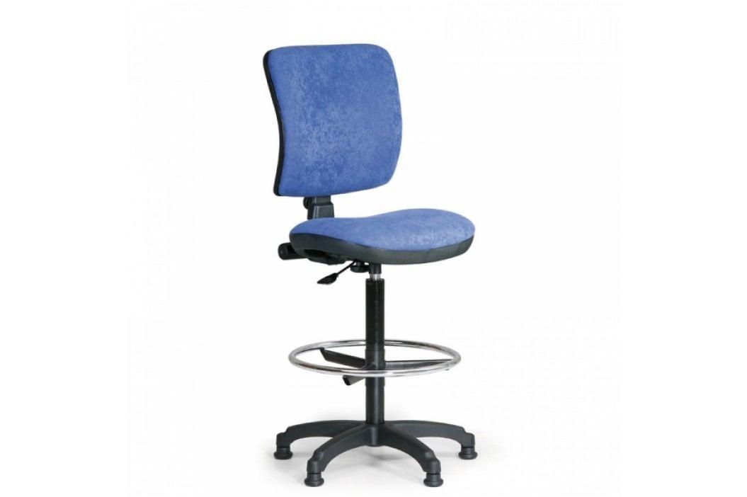 Kancelářská židle Milano II s opěrkou nohou modrá