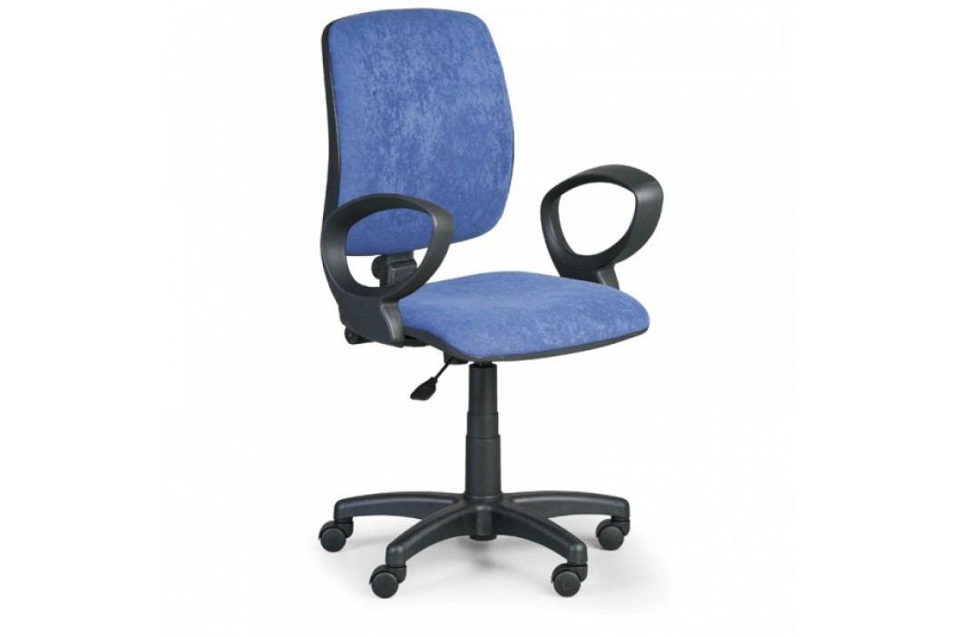 Kancelářská židle Torino II područky D modrá