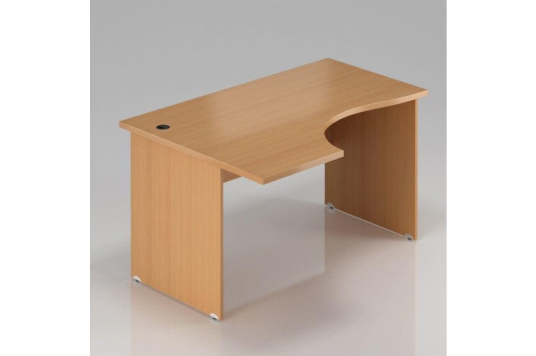 Rauman Ergonomický stůl Visio 140 x 70/100 cm, levý buk