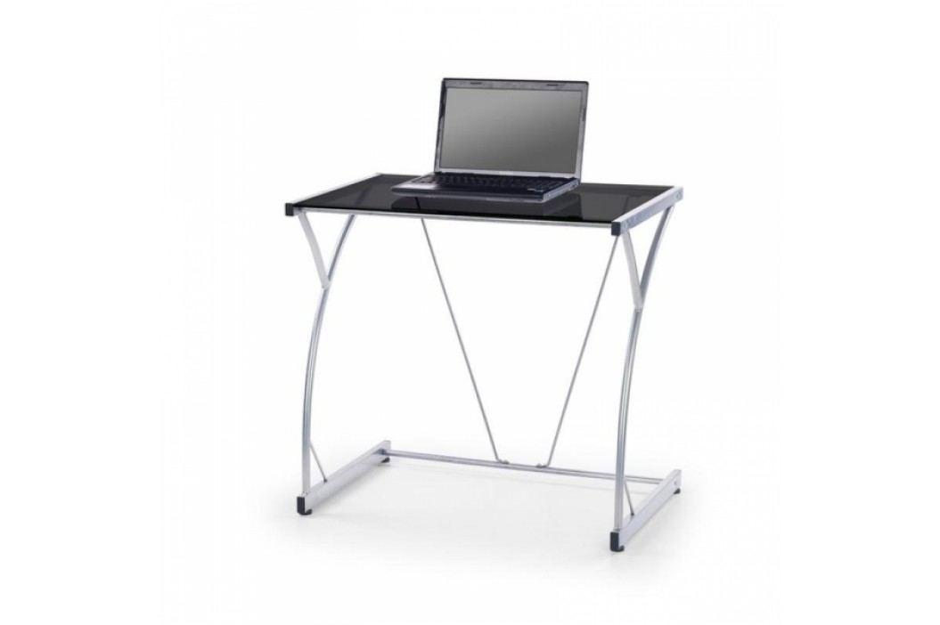 HALMAR Notebook stolek Oswald černé sklo