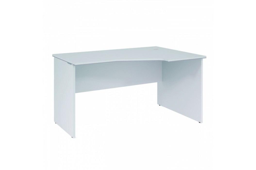 Rauman Ergonomický stůl Office White, pravý 138 x 95 cm