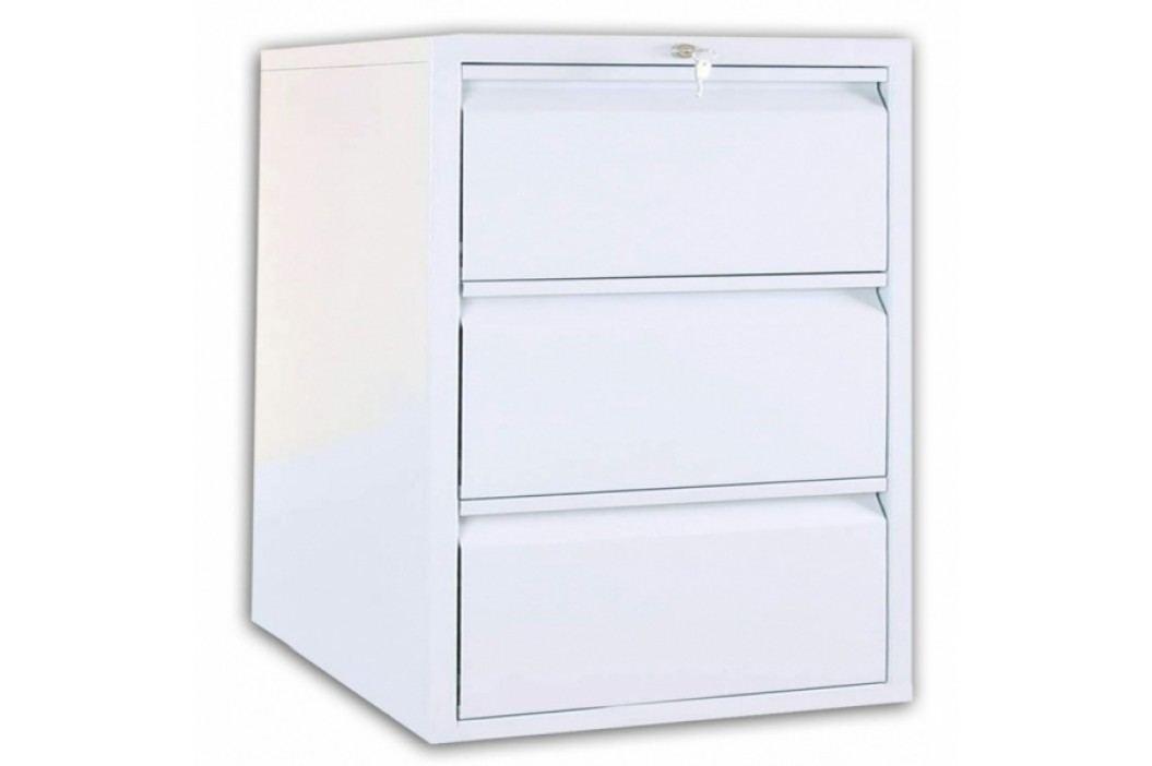 Profi kovová kartotéka A4, 2 x 3 zásuvky světle šedá - ral 7035