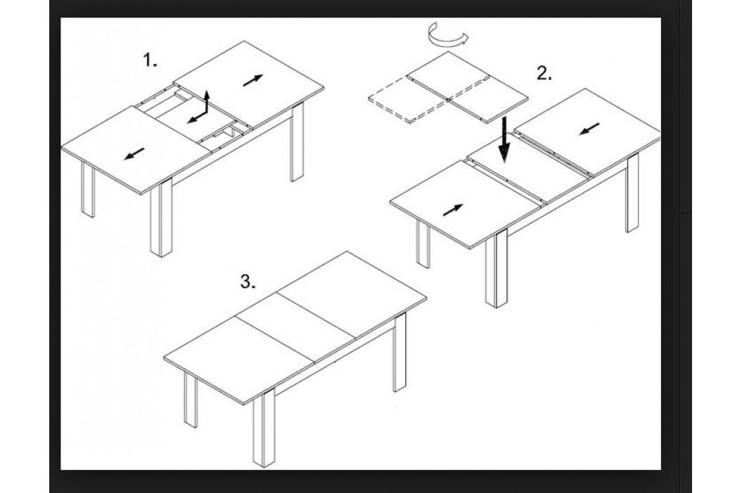 Swierczynski Rozkládací jídelní stůl JOWISZ 160x100 + 4x55