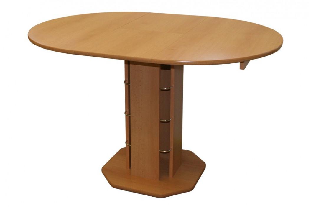 Jídelní stůl rozkl. kulatý - hnědý TADEÁŠ obrázek inspirace