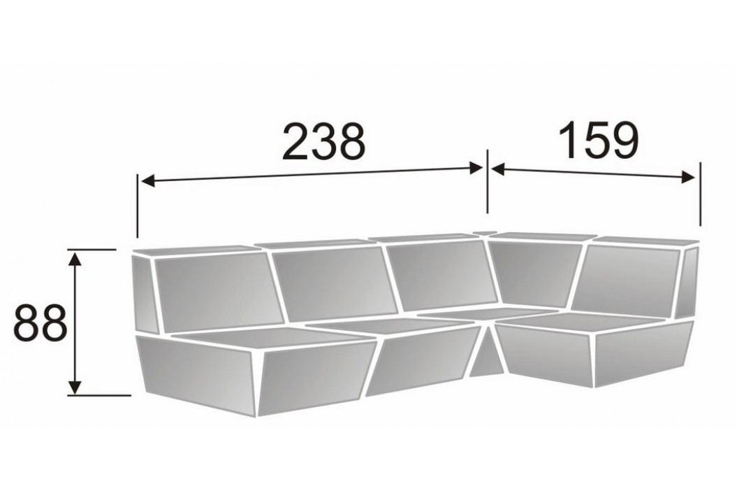 Rozkládací rohová sedačka PATRICIA