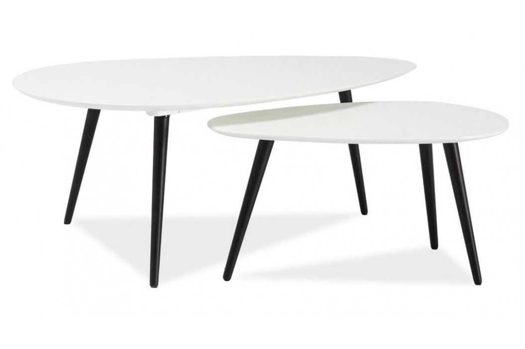 Konferenční stolky - komplet NOLAN B bílý/černý