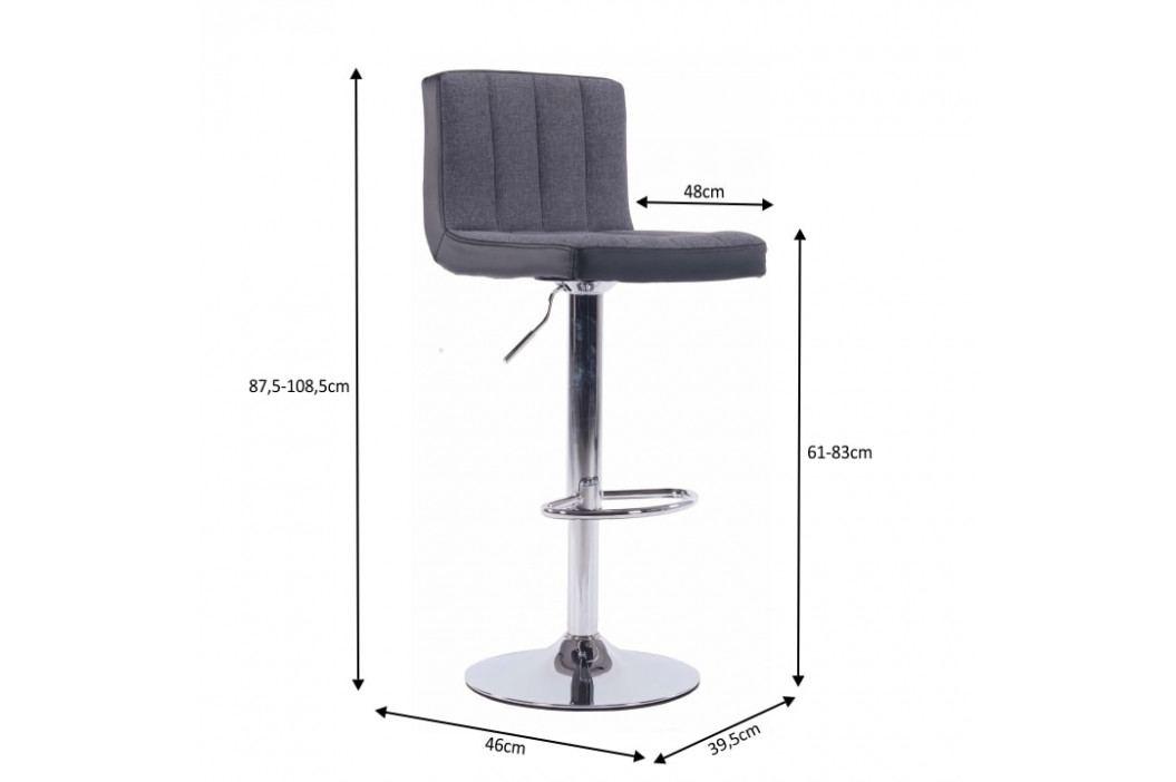 Barová židle, šedá / černá / chromovaná, HILDA obrázek inspirace