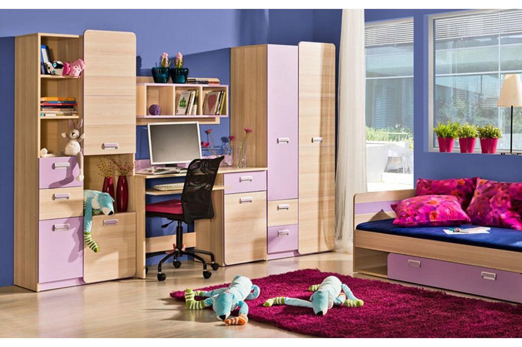 LIMO L13 postel s úložným prostorem fialová