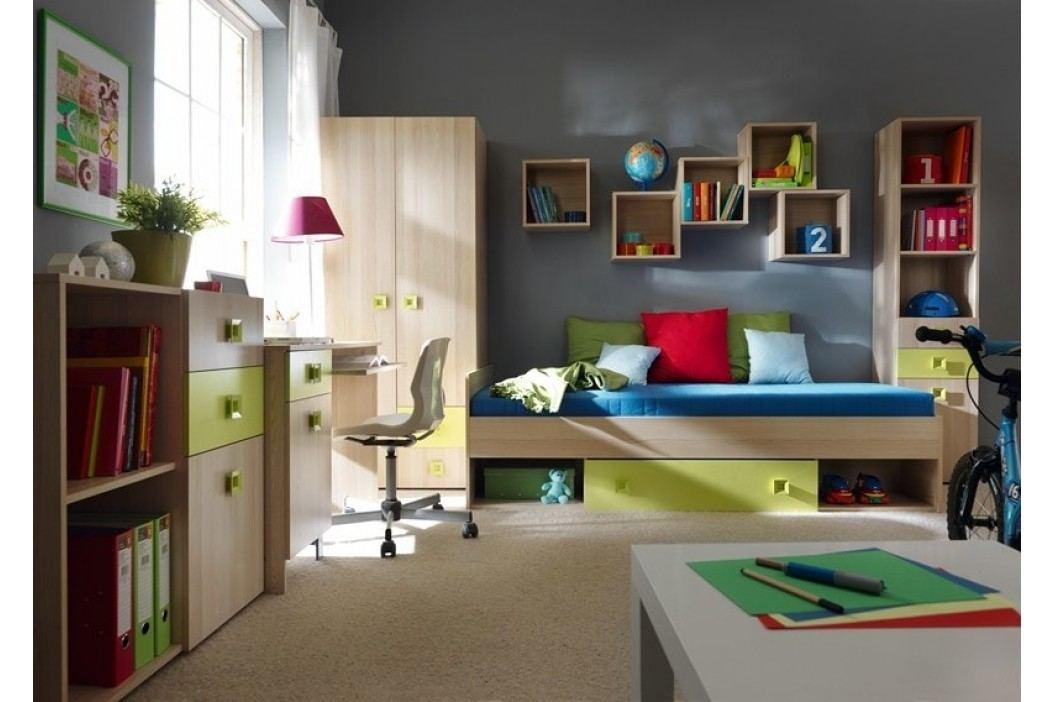 SUNNY postel se zásuvkou – zelená