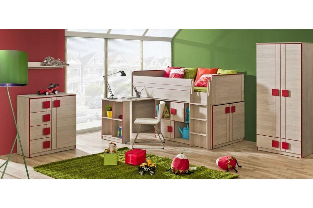 GIMMI G19 patrová postel (komplet G15 + G17) červená