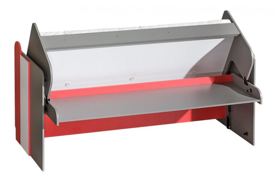 FUTURO F14 postel/psací stůl grafit/bílá/výběr barev