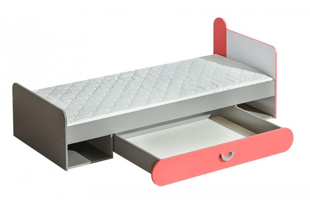FUTURO F13 postel 195 x 80 cm grafit/bílá/výběr barev