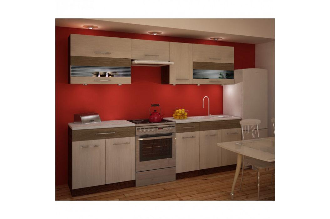 Kuchyňská skříňka, rigoleto light/dark/sklo, JURA NEW IA ZS 2.6m