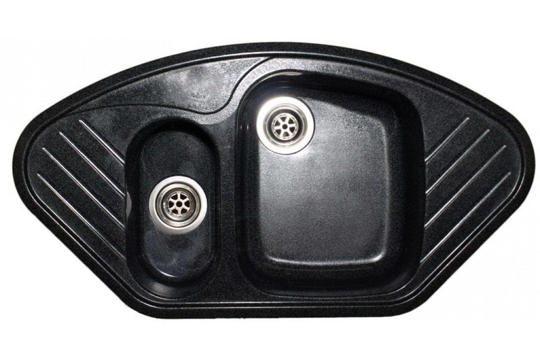 Granitový dřez SANITEC 1 1/2B2D (96x51) černý