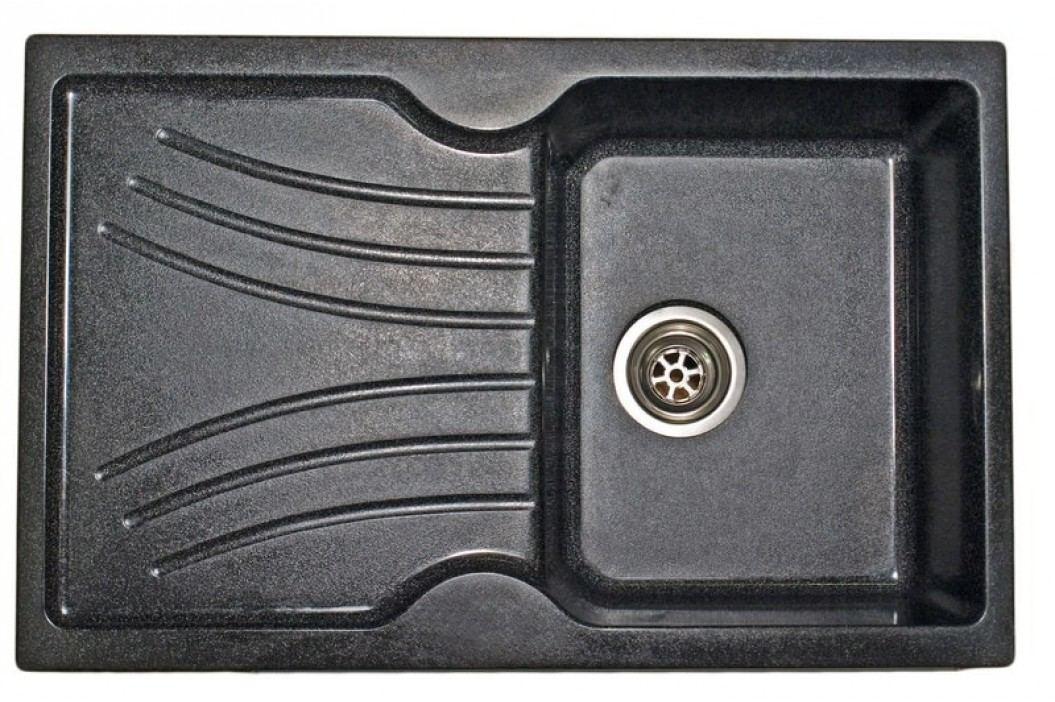 Granitový dřez SANITEC 1B1D (78x50) bílý
