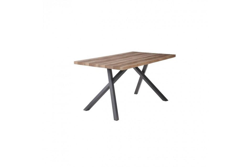 Jídelní stůl, světla švestka / černá, GURDUN