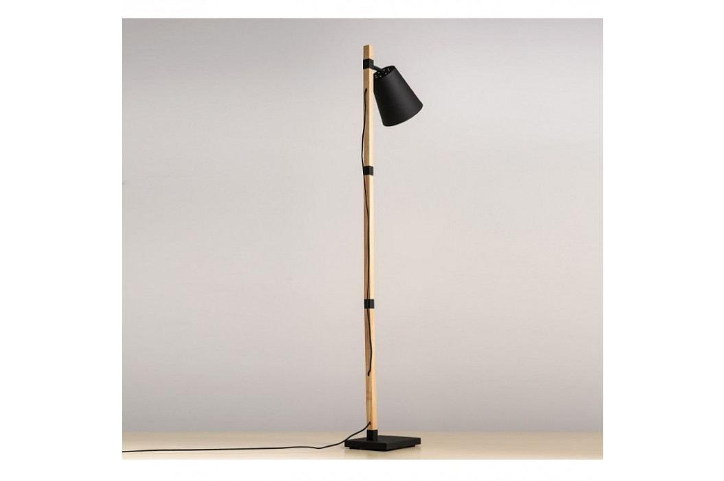 Stojací lampa, černá / bronz, Cindy Typ 4