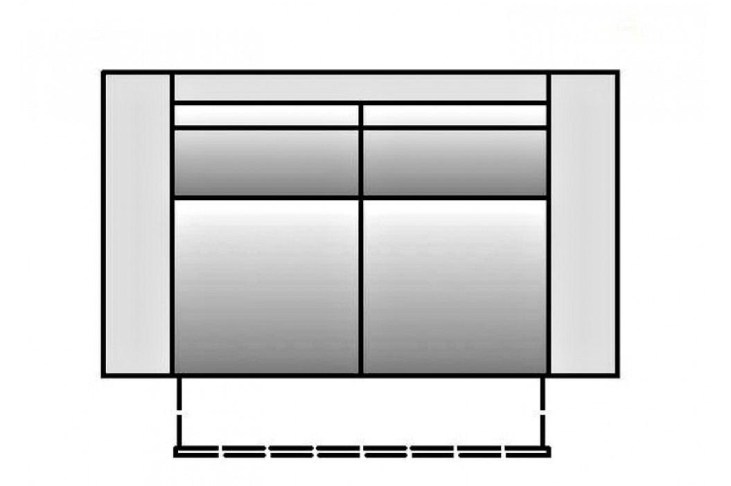 Pohovka s úložným prostorem BERGAMO, látky B1