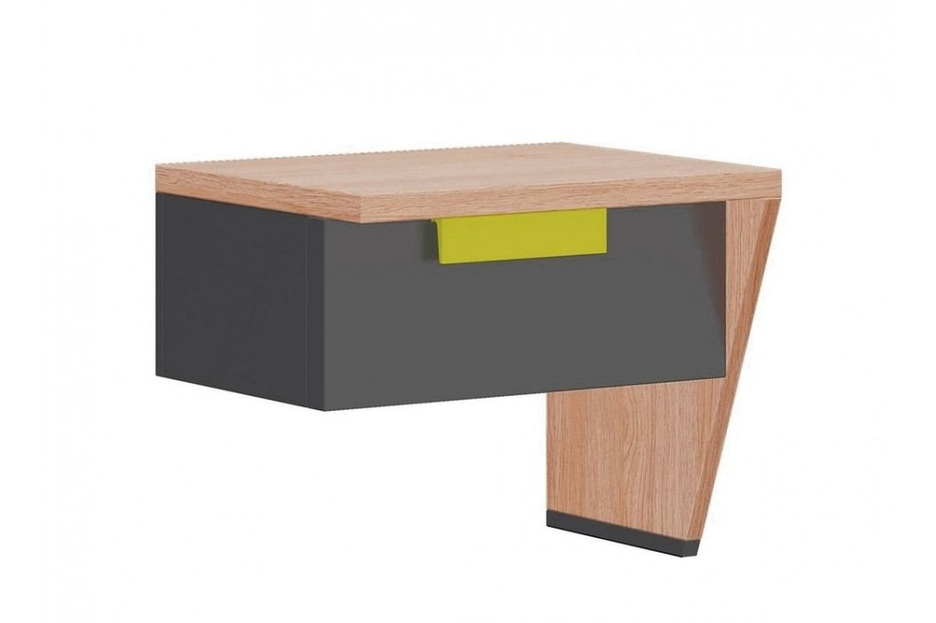 Noční stolek pravý WOW W-12 zelená