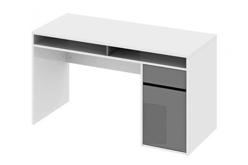 *Psací stůl AGENT bílý lesk/šedý lesk