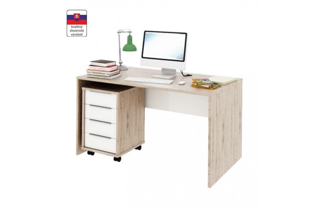 PC stůl, san remo / bílá, Rioma TYP 11