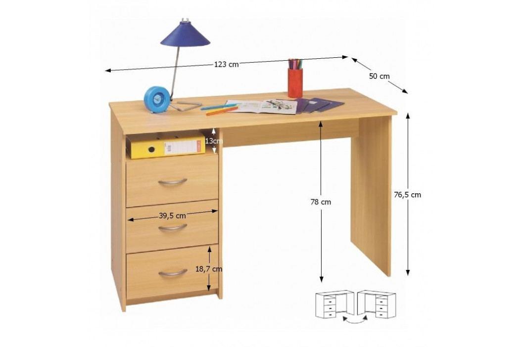 PC stůl, buk, LARISTOTE