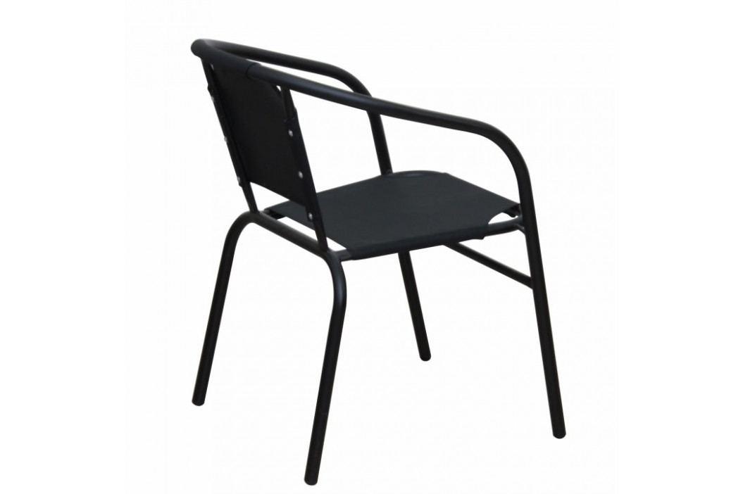 Židle, stohovatelná, tmavě šedá / šedá, LESTRA