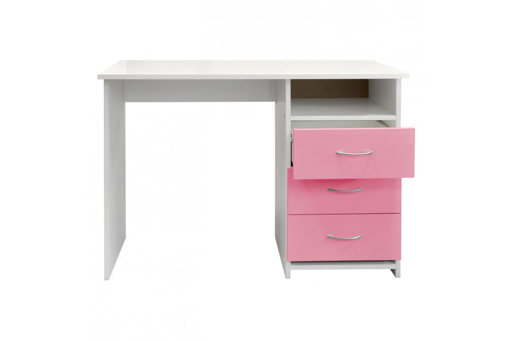 Psací stůl 44 růžová/bílá