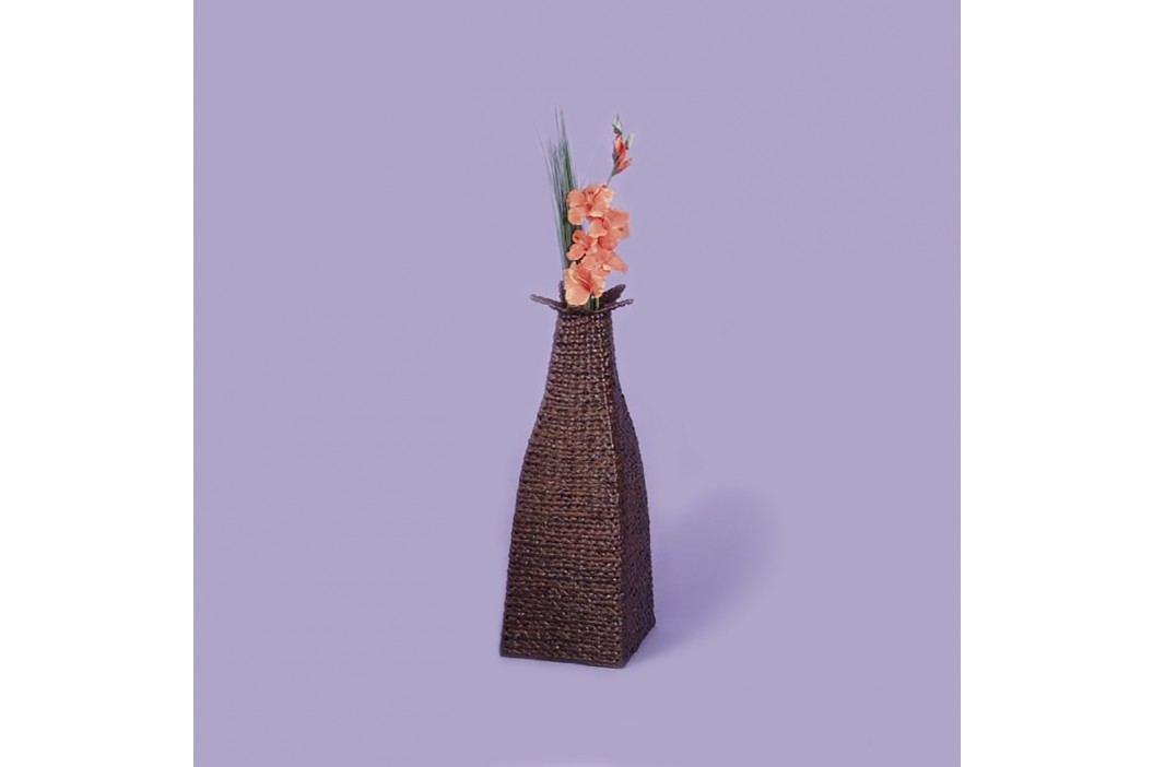 Dekorační obal na vázu hnědý lak