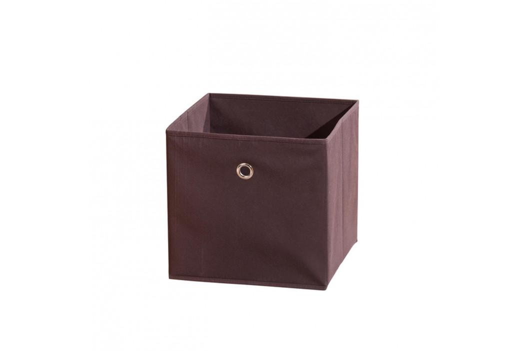 WINNY textilní box, hnědý