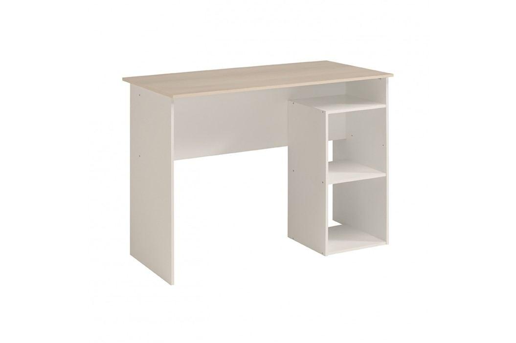 Psací stůl KEYWORLD bílá/akácie obrázek inspirace