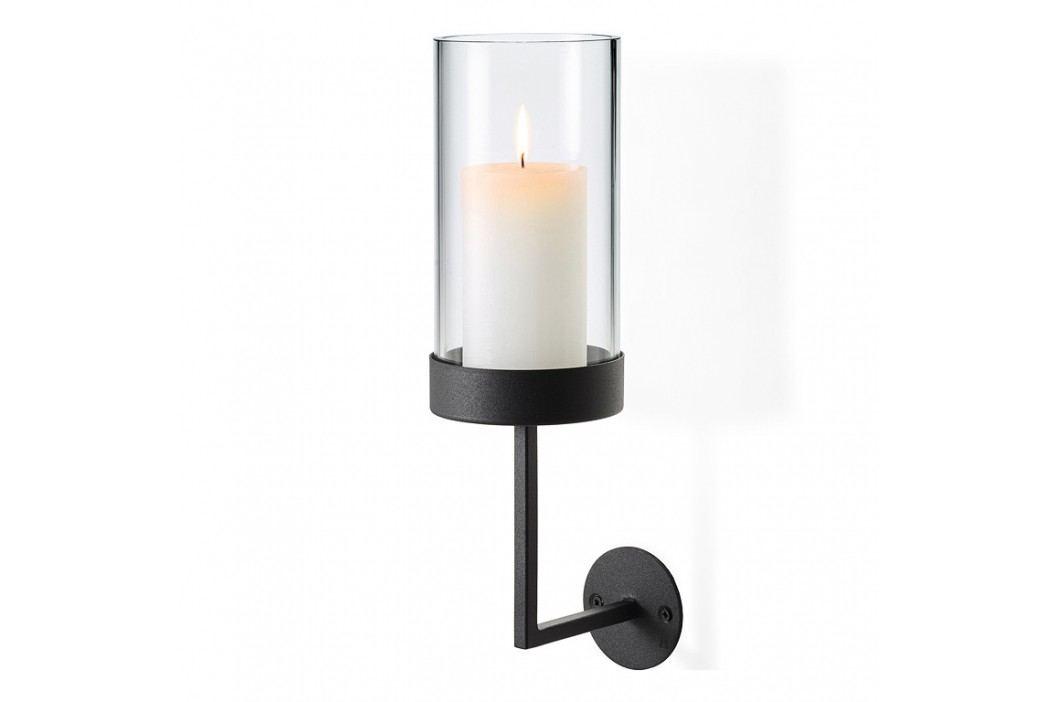 Blomus Nástěnný kruhový svícen v nordickém stylu NERO malý 33 cm