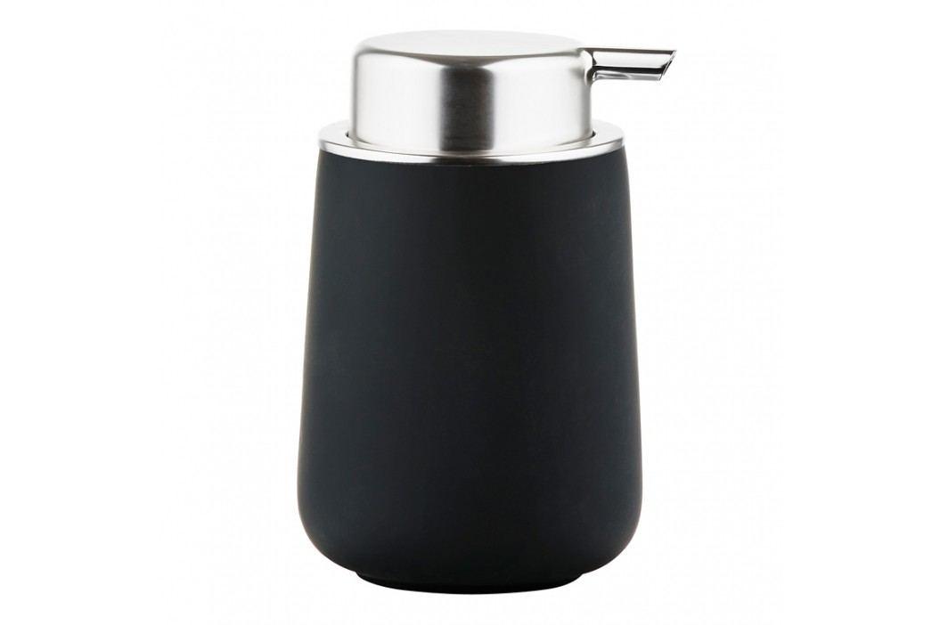 ZONE Dávkovač na mýdlo porcelánový 11,5 cm black NOVA ONE