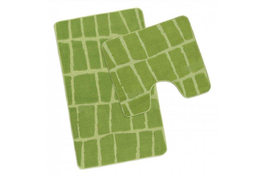 Koupelnová a WC předložka zelená kostka