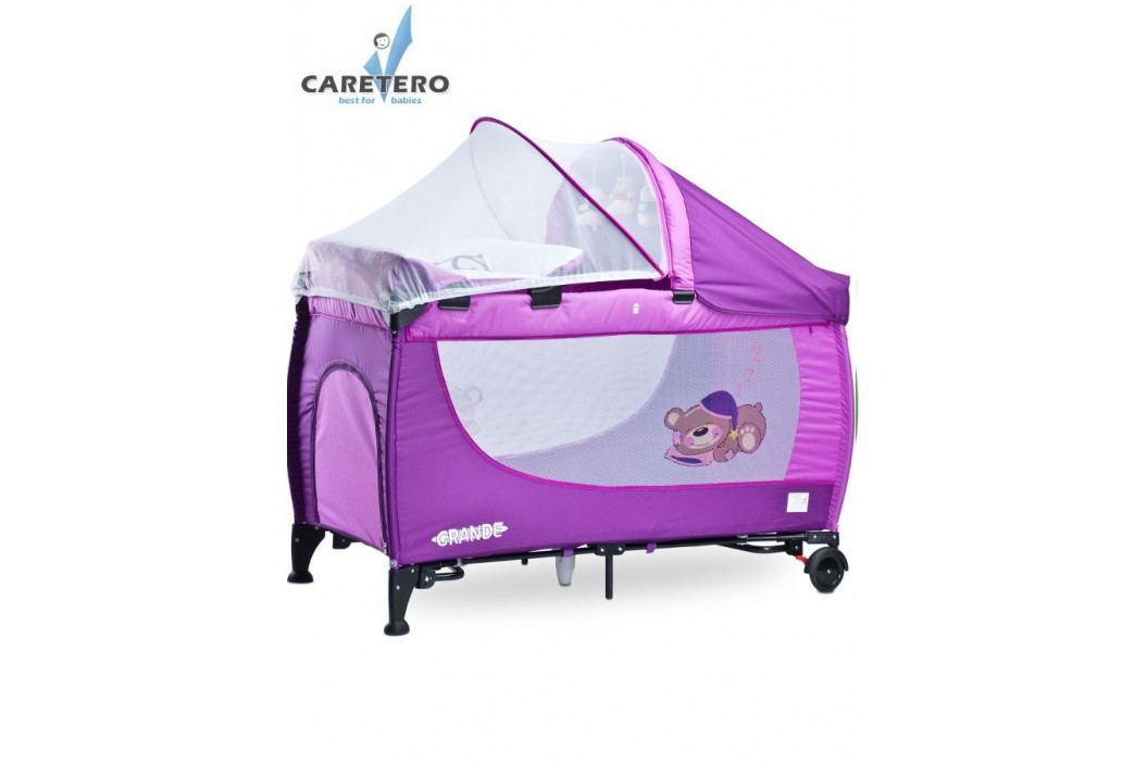 Cestovní postýlka CARETERO Grande purple 2016