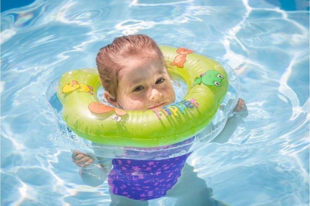 Plavací nákrčník Flipper/Kruh zelený v krabici 17x20cm 0m+