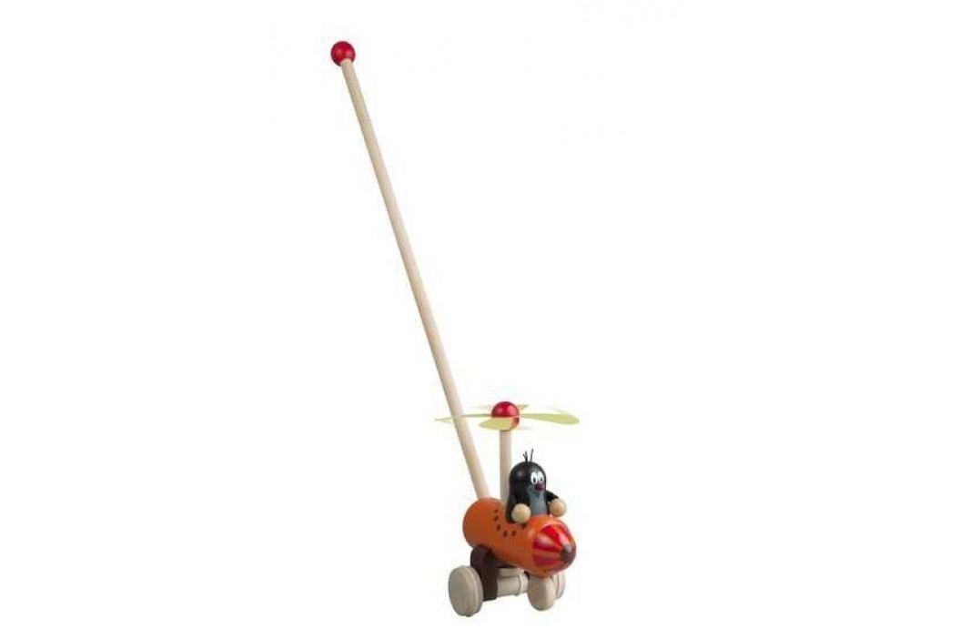 Detoa Dřevěné hračky -  tahací hračky - Jezdík - strkadlo Krtek
