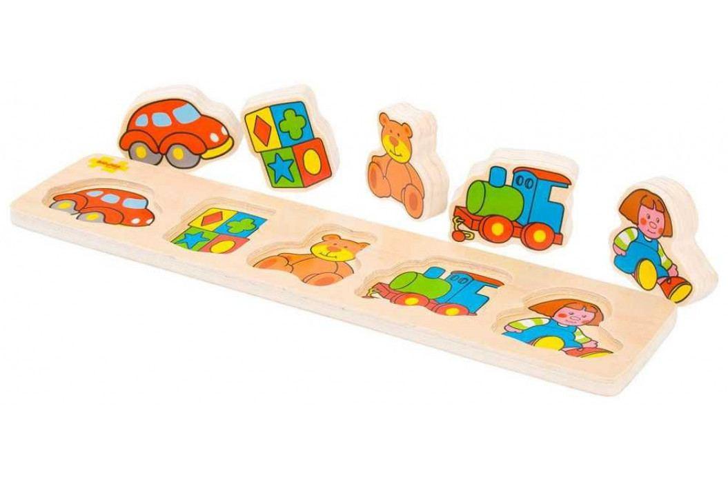 Bigjigs Toys Dřevěné vkládací puzzle - Hračky