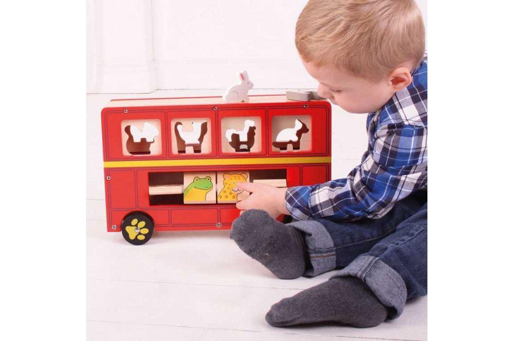 Bigjigs Toys Bigjigs Toys dřevěný autobus se zvířátky