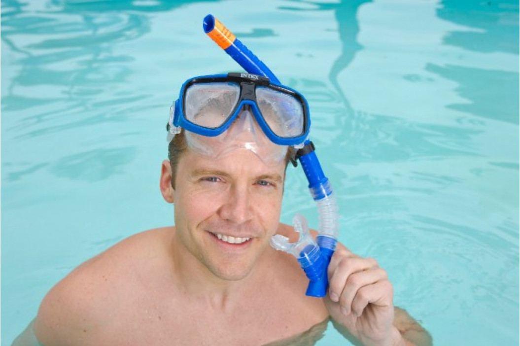 Teddies Potápěčská sada brýle+šnorchl na kartě 22x50cm 8+