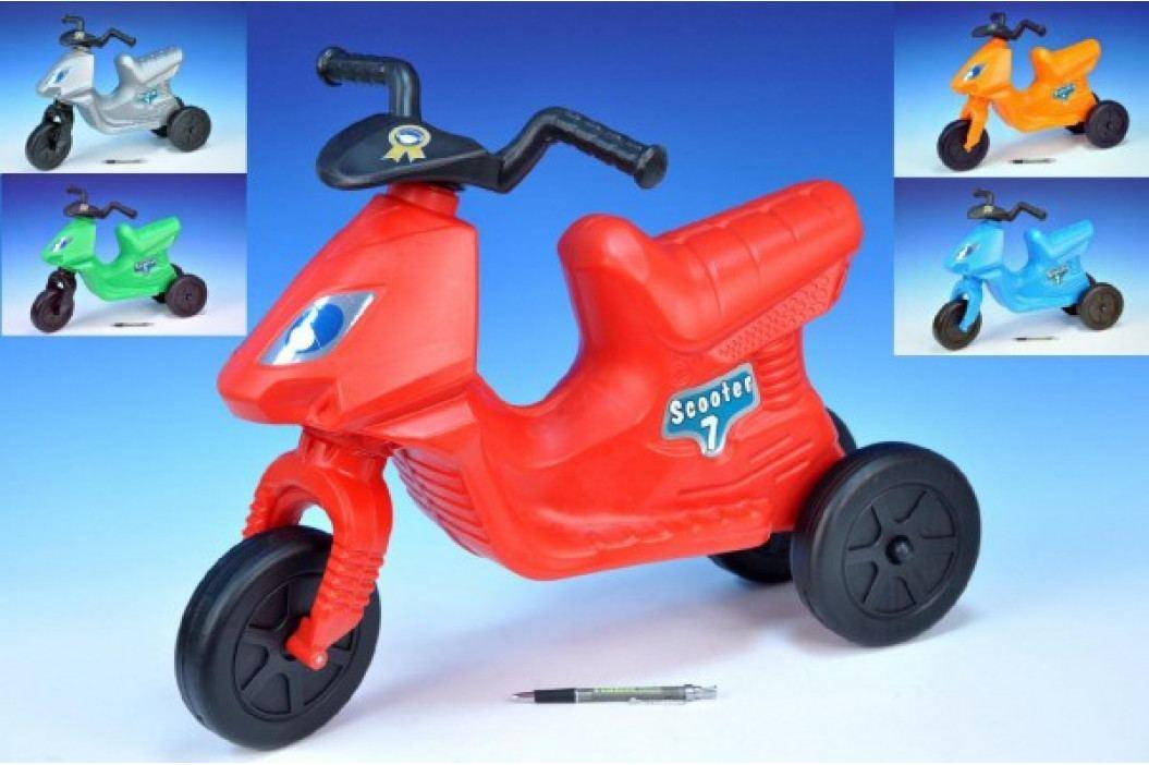 Teddies Odrážedlo Scooter 7 plast výška sedadla 32cm asst 5 barev nosnost do 50kg od 3 let