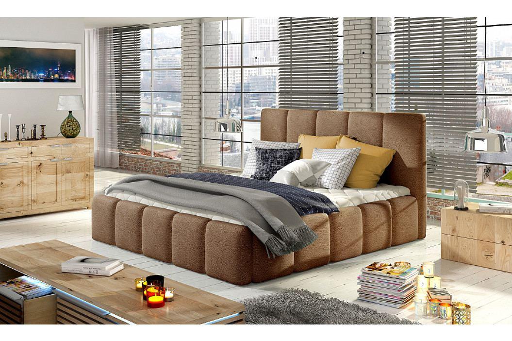 Čalouněná postel 140 x 200 cm s úložným prostorem Hedvika 01