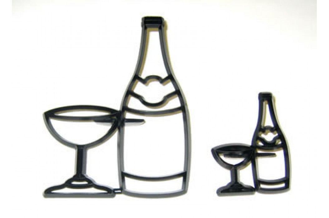Patchwork na marcipán láhev a sklenice
