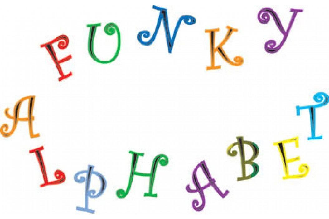 Vypichovač veselá abeceda a čísla velká