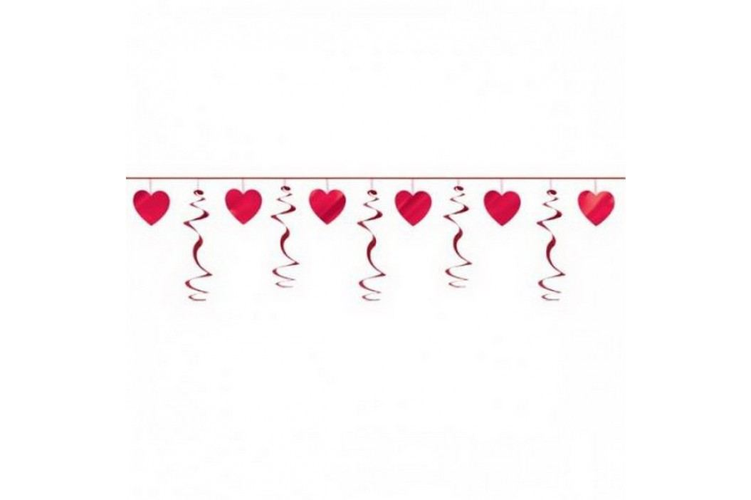 Girlanda spirálová srdce